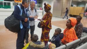 Faguèye à l'aéroport de Dakar