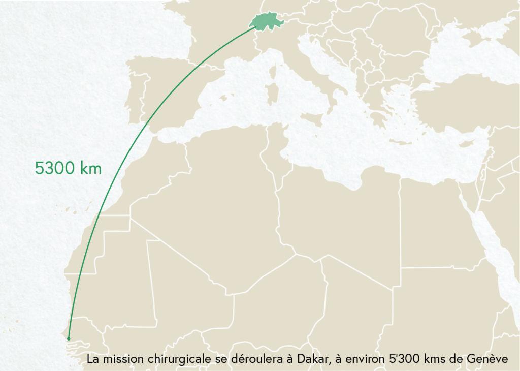La mission chirurgicale aura lieu à Dakar, Sénégal