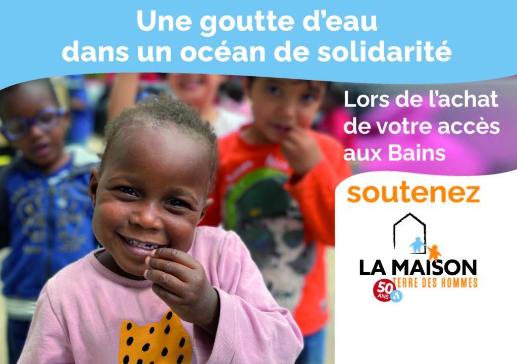 Lien vers Les Bains de Lavey et leur action de solidarité en faveur des enfants de La Maison
